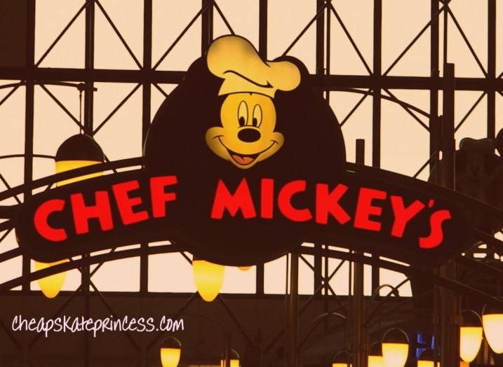 Chef Mickey's rmenu