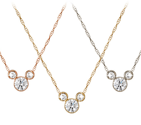 Diamond Mickey Mouse gold necklace