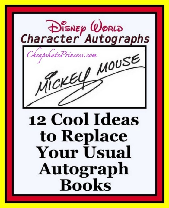 ideas for Disney character signatures besides autograph books