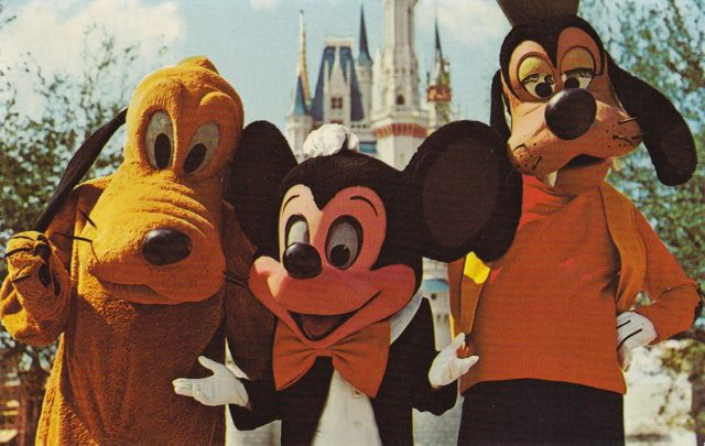 Old Disney post cards Mickey Mouse