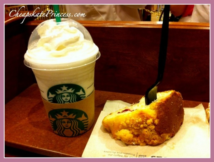 Disney World Starbucks menu