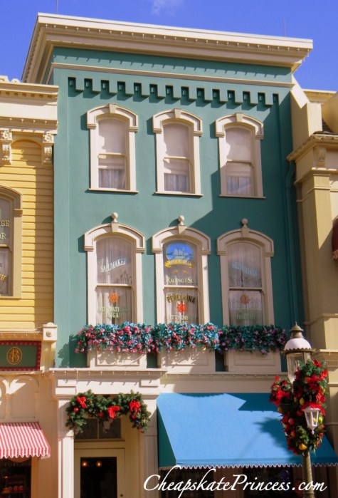 Main Street Disney windows