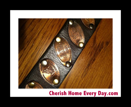 How to make a Disney World pressed penny belt