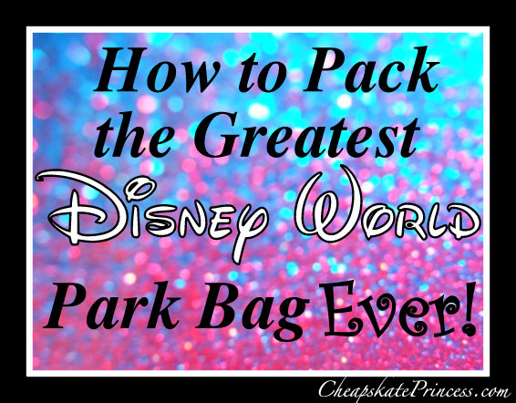 Pack a great Disney park bag