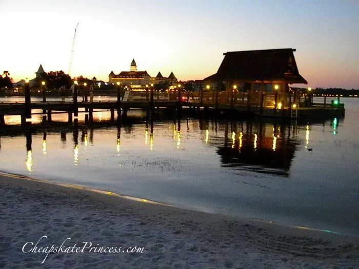 Polynesian Resort free activities sun set