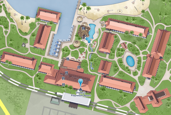 map of Disney's Polynesian Resort