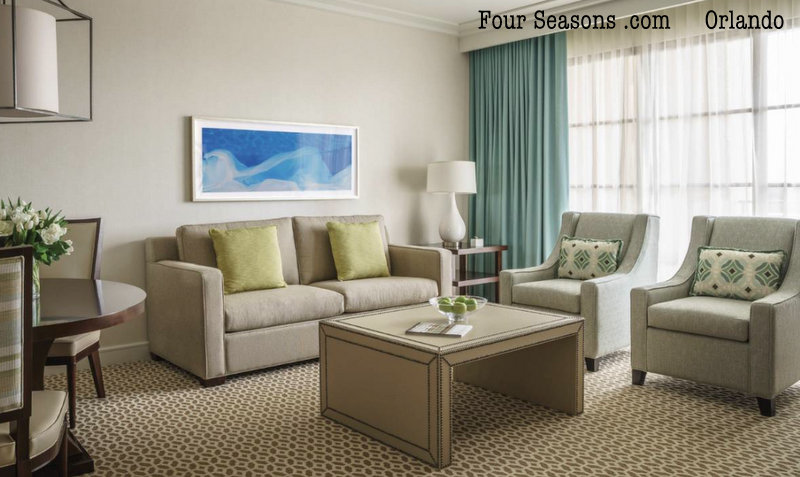 Four Seasons Orlando Park View Deluxe Suite living room