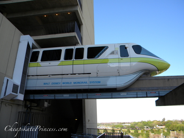 Monorail viewing at Disney's Contemporary Resort