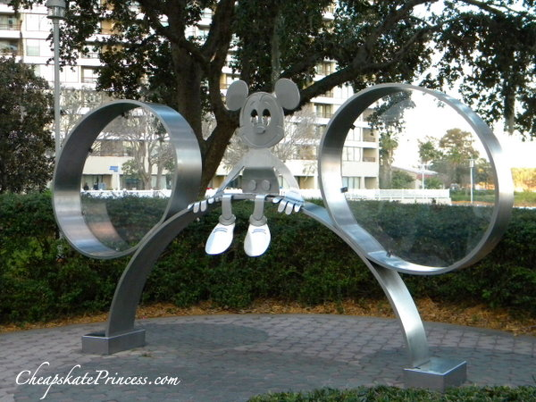 metal Mickey Mouse at Disney's Contemporary Resort