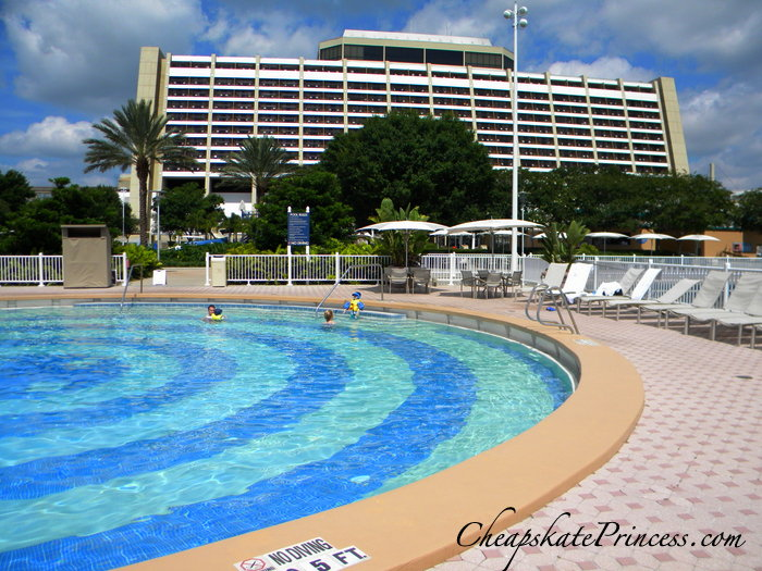 quiet pool at the Contemporary Resort at Disney Wor