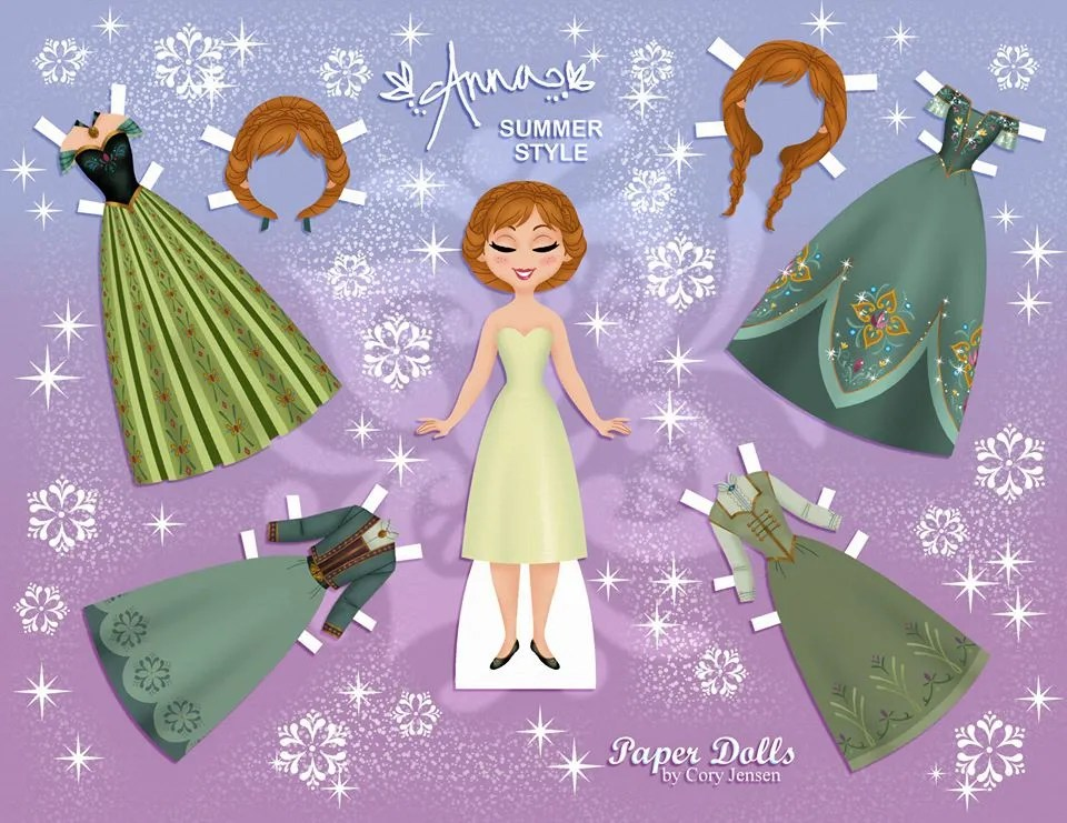 Disney Elsa paper doll set