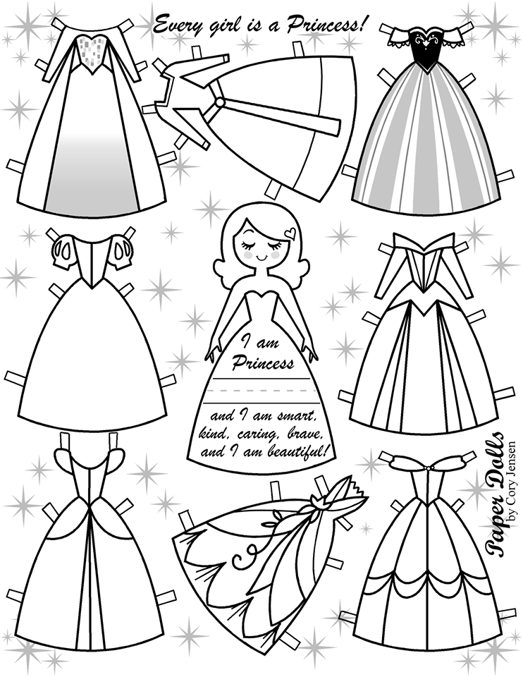 For Your Princesses...Free Disney Inspired Paper Dolls