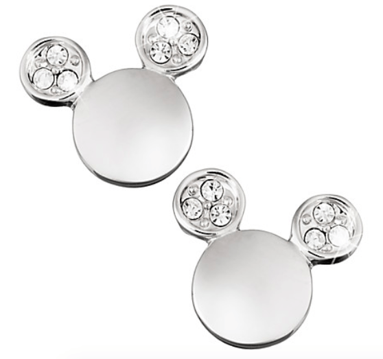 Mickey Mouse Icon Crystal Ear Earrings