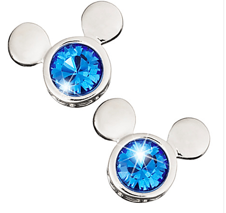 Mickey Mouse blue Icon Stud Earrings