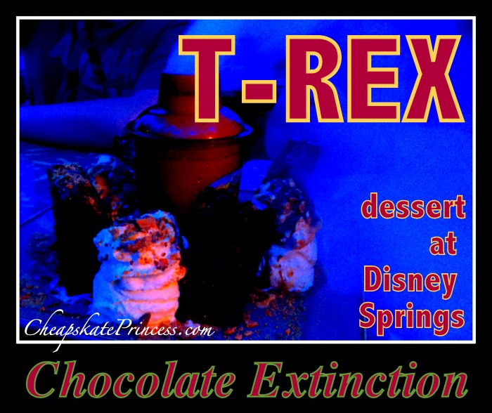Chocolate Extinction T-REX Disney World