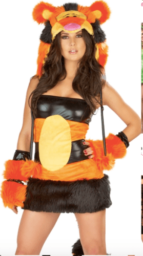 Sexy Disney Tigger costume for adult Halloween party
