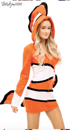women's Disney Nemo costume for Halloween