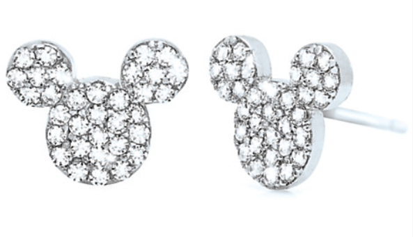 Mickey Mouse Icon platinum stud earrings