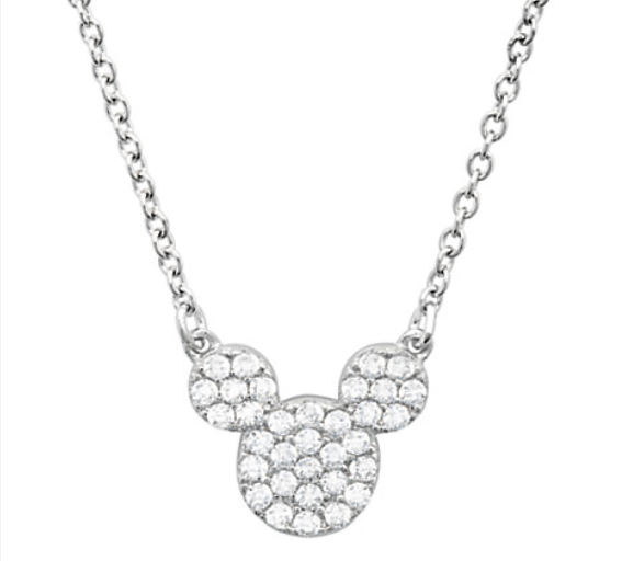Mickey Mouse platinum necklace