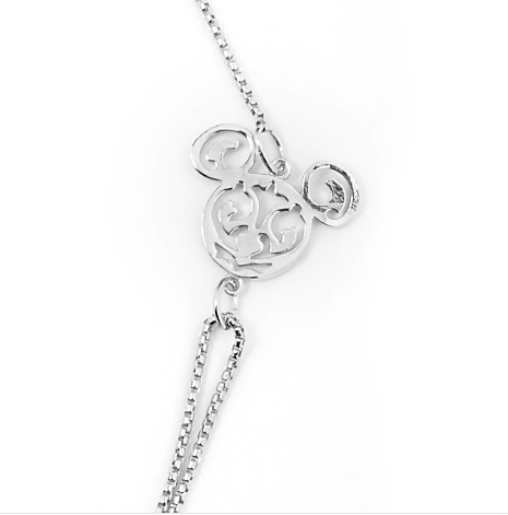 Mickey Filigree Pull Chain Necklace