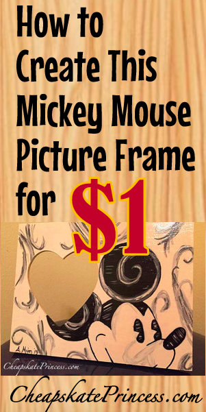 Disney World DIY picture frame