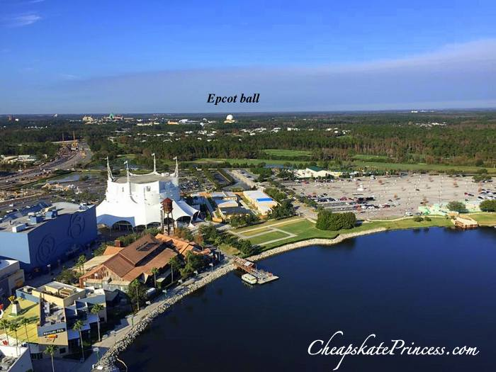 see Epcot from Downtown Disney balloon