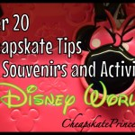 20 Cheapskate Tips for Souvenirs and Activities at Disney World: How to Save Money!!