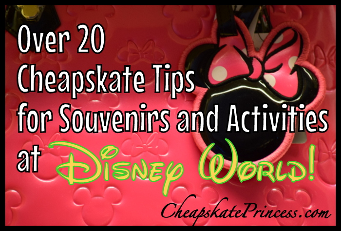 cheapskate tips for souvenirs and activities at Disney World
