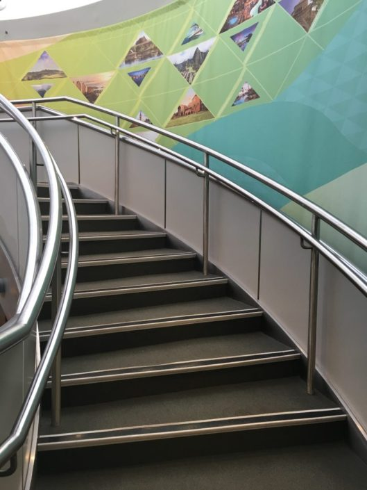 DVC member lounge stairs