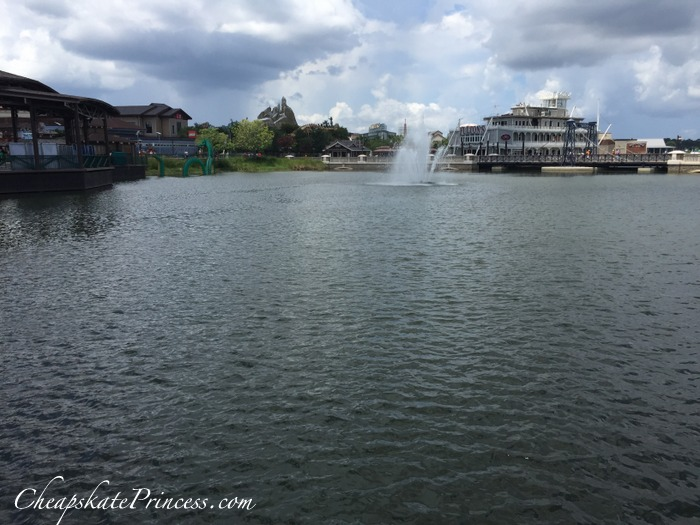 the lake at Disney Springs