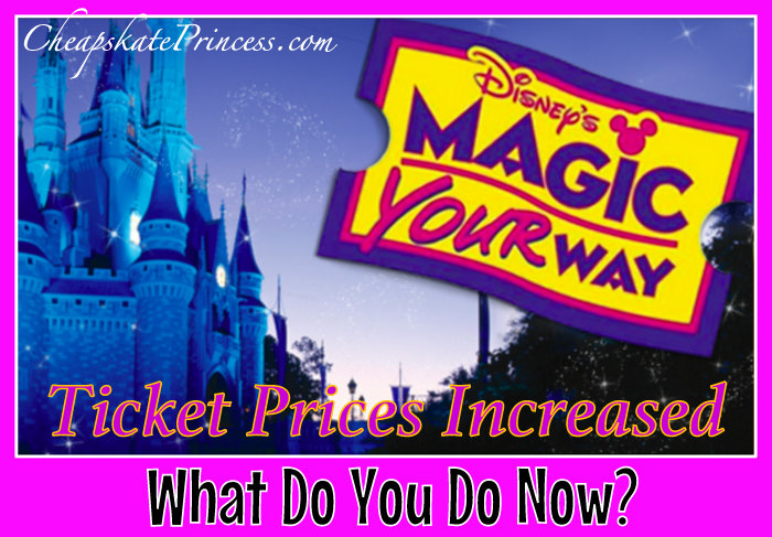 Disney Ticket prices went up so what can you do?
