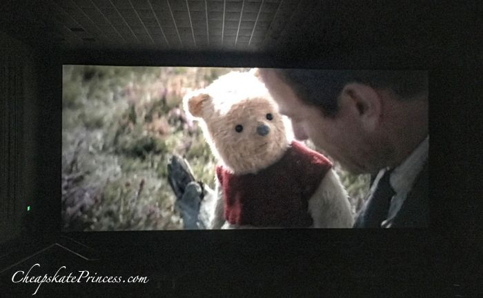 Christopher Robin movie in movie theater