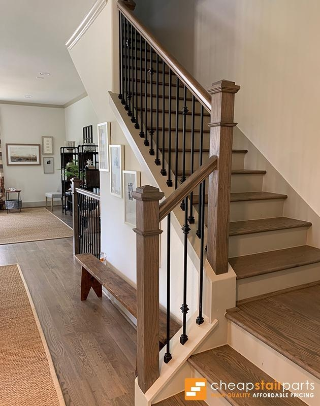 Cheap Stair Parts Shop Iron Balusters Handrail Treads Newels | Replacing Wood Spindles With Metal | Stair Spindles | Iron Stair Balusters | Stair Parts | Stair Railing | Staircase