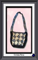 Knitted Entrelac Purse