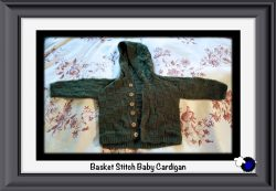 Knitted Green Hoodie Baby Cardigan