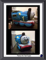 Knitted Thomas the Tank Engine