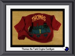 Knitted Thomas the Tank Engine Cardigan