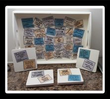 Wine Sayings Tray and Coasters