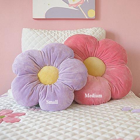 sofa throw pillows cheap chaise sectional sofas 16″ small purple daisy flower pillow, cushion pillow ...