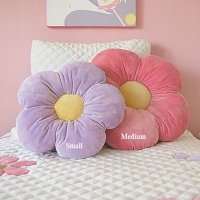 16 Small Purple Daisy Flower Pillow, Cushion Pillow