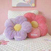 16 Small Purple Daisy Flower Pillow, Cushion Pillow ...