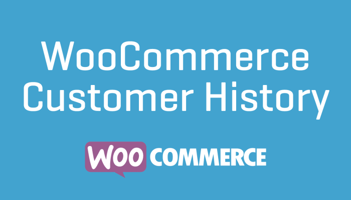WooCommerce Customer History Cheap Plugin Wordpress Extension Free Updates