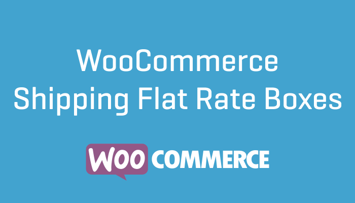 Woocommerce Shipping Flat Rate Boxes