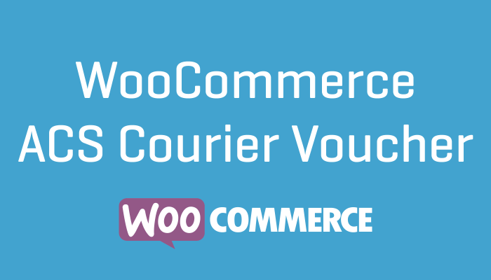 WooCommerce ACS Courier Voucher