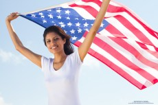 native-american-woman-with-american-flag