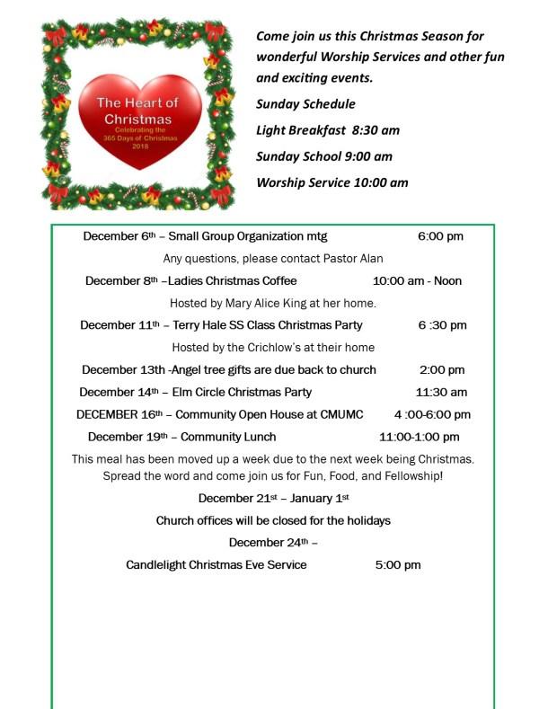 Christmas Calendar at Cheatham