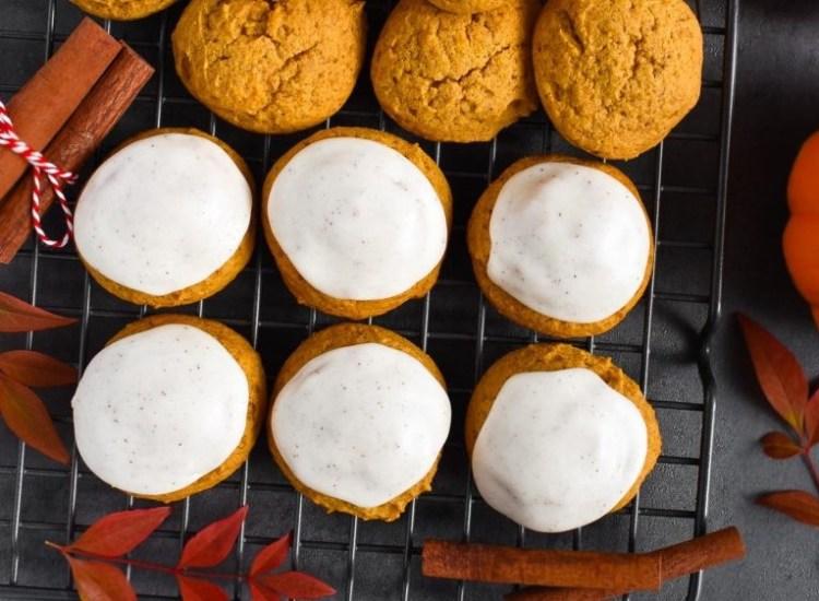 iced pumpkin cookies