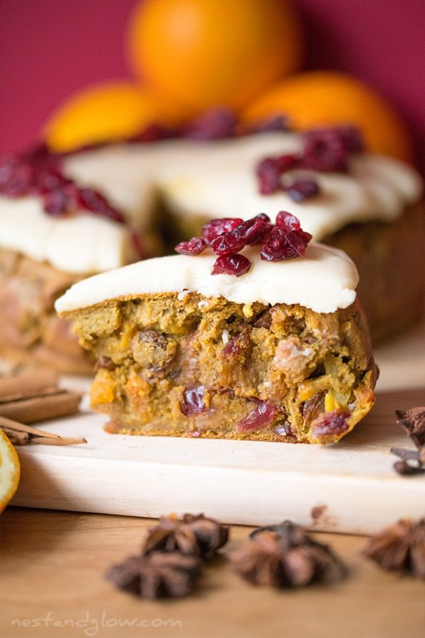vegan christmas fruitcake
