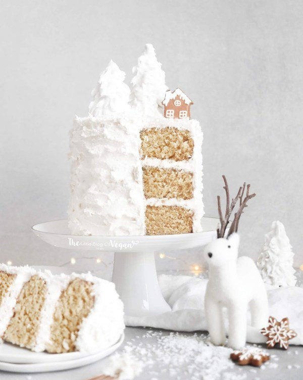 vegan white coconut cake