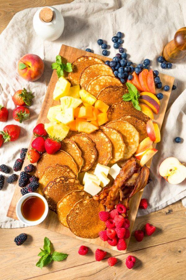 vegan pancake breakfast charcuterie board